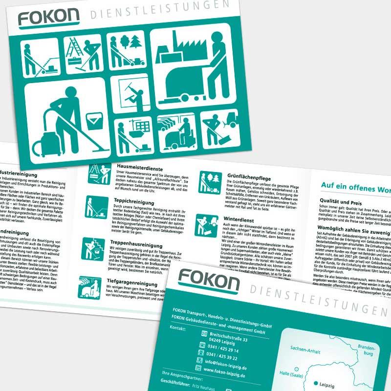Image-Folder (DIN A5 quer) für die FOKON GmbH, Leipzig