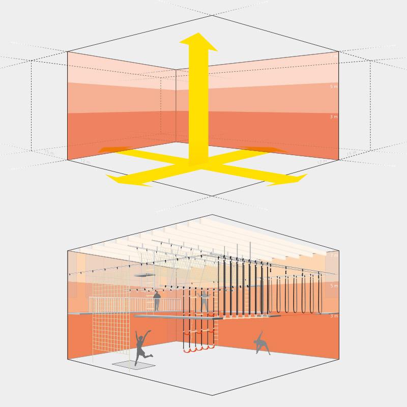 Illustrationen eines Raumnutzungskonzepts für die Gebr. Hagedorn GbR, Bad Essen