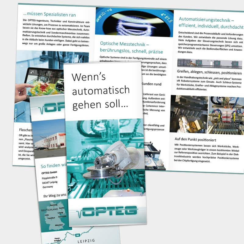 Imagefolder für die OPTEG GmbH, Leipzig | im Auftrag von Liebmann PR, Leipzig
