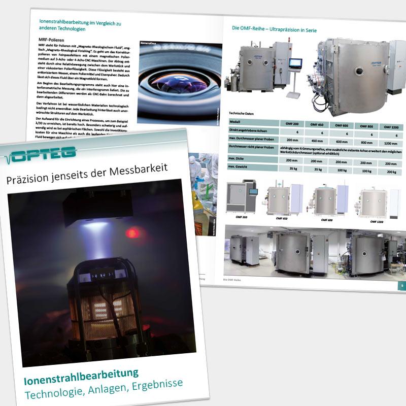 Produktbroschüre für die OPTEG GmbH, Leipzig | im Auftrag von Liebmann PR, Leipzig