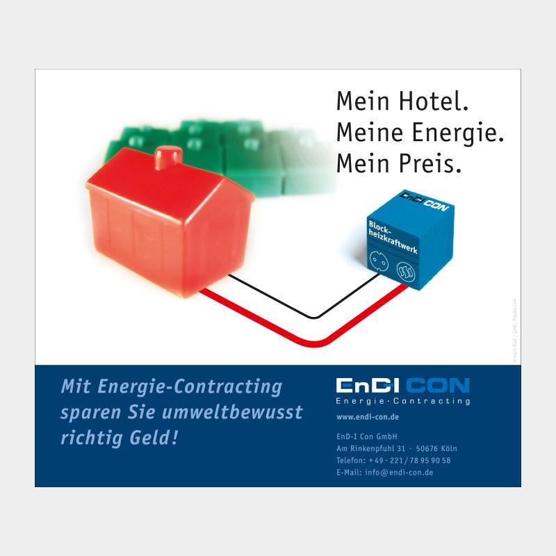 Anzeige in Fachzeitschrift zum Thema Energie-Contracting für die EnD-I Con GmbH