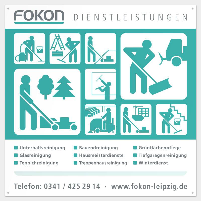 Schild für die FOKON GmbH, Leipzig