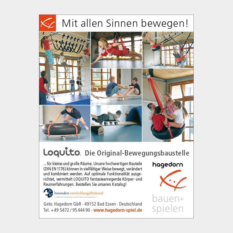 Anzeige in Fachzeitschrift für die Gebr. Hagedorn GbR, Bad Essen