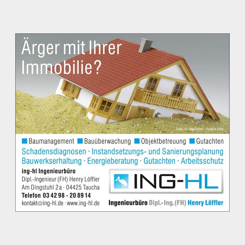 Anzeige für das ING-HL Ingenieurbüro