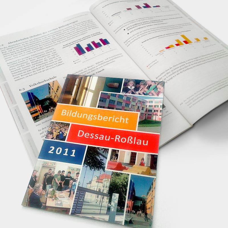 Bildungsbericht-Broschüre für die Stadt Dessau-Roßlau