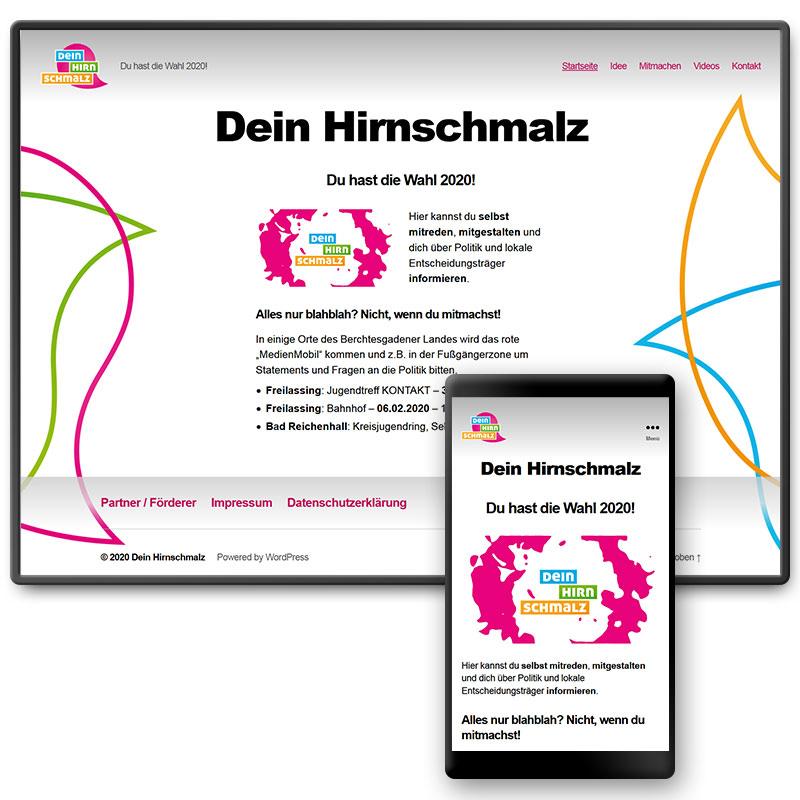 Website für ein Jugendprojekt von Q3. Quartier für Medien.Bildung.Abenteuer, Traunstein
