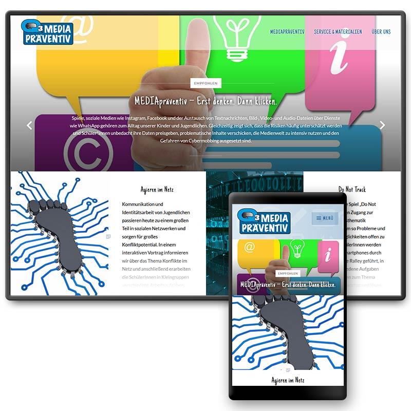 Website für medienpädagogische Projektangebote von Q3. Quartier für Medien.Bildung.Abenteuer, Traunstein